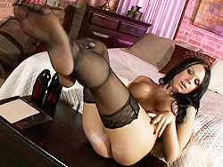 sexy tgirl ashley george in stockings